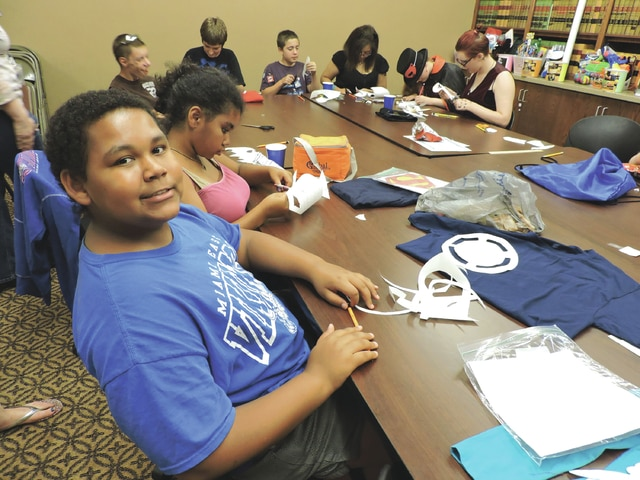 Provided photo During the 2015 Teen Summer Library Program, young patrons were able to design their own custom t-shirts. The library will once again be offering teen activities every Tuesday and Thursday afternoon.