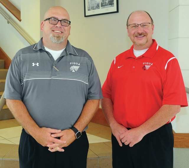 Mike Ullery | Daily Call Piqua City Schools superintendent Dwayne Thompson, right, and assistant superintendent Tony Lyons are the newest members of the PCS administration. Both are Piqua natives, attended PCS schools and have served the district in various positions for numerous years.