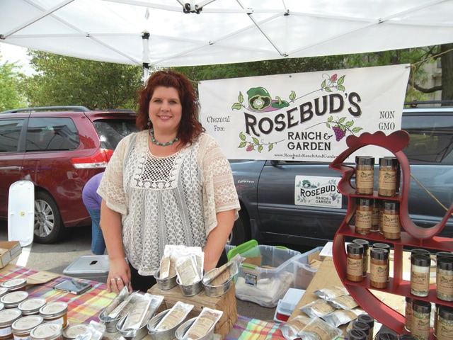 Sharon Semanie | For the Daily Call By day, Amber Lange of Covington is the executive assistant to the CEO of French Oil & Machinery, but once she clocks out, she runs her own business, Rosebud's Ranch & Garden, which specializes in chemical-free, non-GMO seasoning mixes and fruit butters.