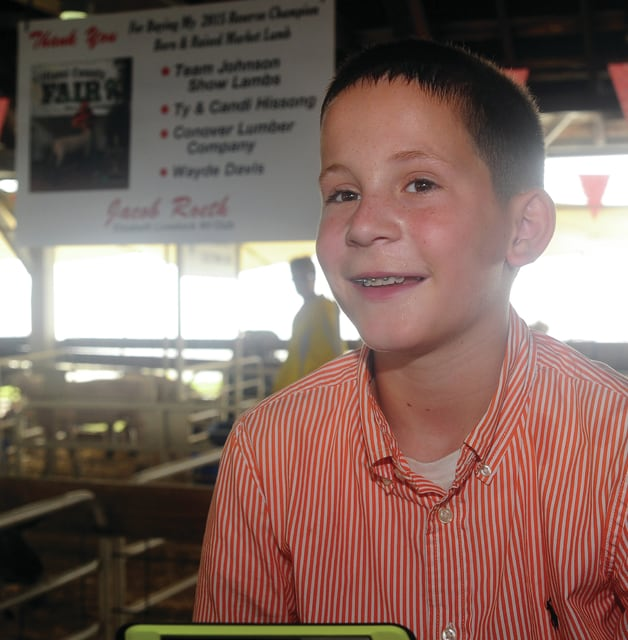 Jacob Roeth, 11, of Troy talks about his very successful week at the 2016 Miami County Fair.