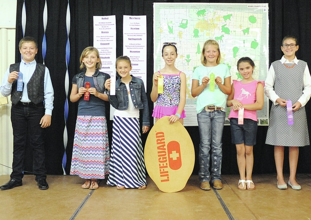 Anthony Weber | Civitas Media Miami County 4-H Clothing Revue Junior Division: first place in modeling Gabriel Cusick, second place in modeling Haylee Stumph, third place in modeling Cora Moore, fourth place in modeling Emma Sutherly, fifth place in modeling Madison Maxson and sixth place in modeling Lydia Durst. An honorable mention went to Allison Poore Sunday inside the Duke Lundgard building at the Miami County Fair.