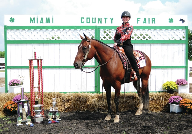 Cecilia Fox | Troy Daily News Victoria Hager, age 17 of New Carlisle, a member of the Galloping Gauchos, won Versatility Grand Champion. She is the daughter of Chris and Jodie Hager.