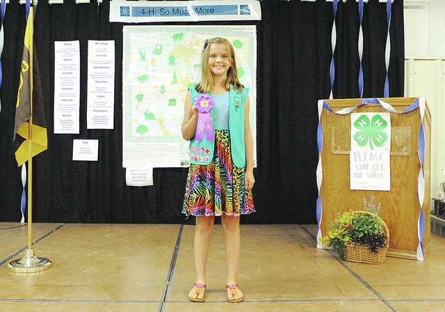 Anthony Weber | Civitas Media Girl Scouts 2016 Award Ceremony Winners, earning Cadette Troop Honor Rosette: Cadette Troop 31024 from Tipp City-Bethel, (pictured is), Emma Beetley.