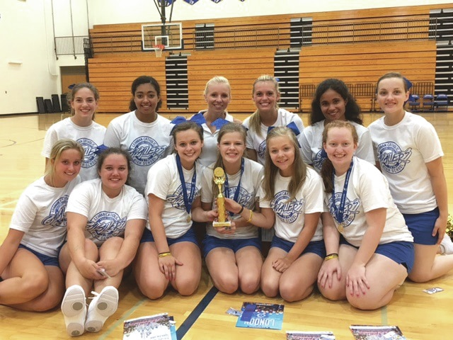 Cheerleaders for Lehman Catholic High School prepared for the upcoming fall sports season by attending a three-day Universal Cheerleaders Association Camp held recently at the school.
