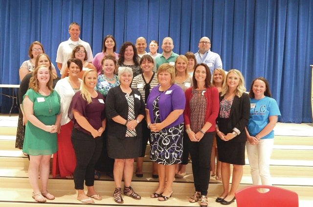 Provided photo  The Piqua Kiwanis Club recently hosted their annual luncheon for new teachers and administrators. Included were new members of the Piqua City Schools district.