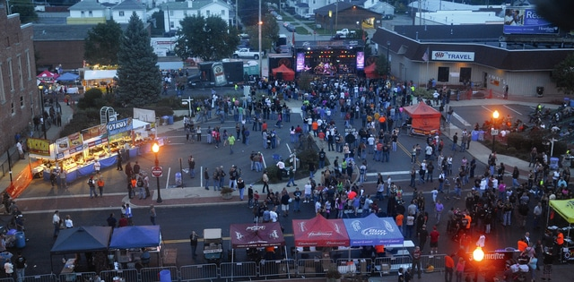 Mike Ullery | in75 A crowd gathered downtown to share in the excitement of Piqua BikeFest 2014.
