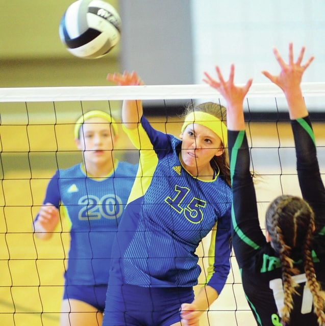Mike Ullery | Daily Call Malorie Hussey, 15, looks to score for the Cavaliers.