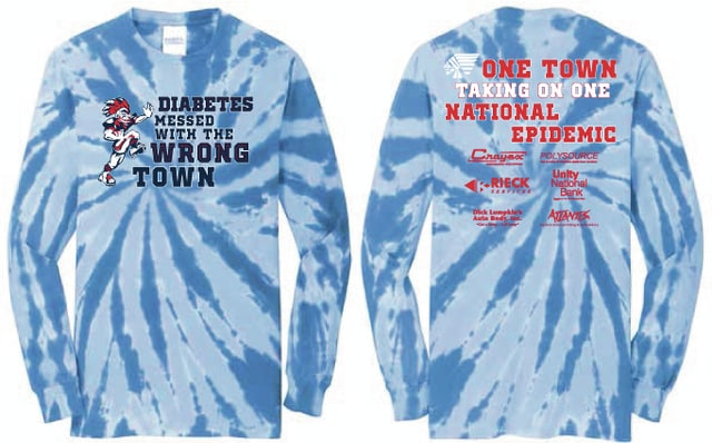 Provided photo Students at Piqua High School are selling t-shirts to raise funds for Dayton Diabetes. Community members have been requesting the shirts, and if there is enough interest, more shirts will be made, according to Athletic Director Chip Hare.