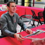 Medalist Murphy greets fans at mall
