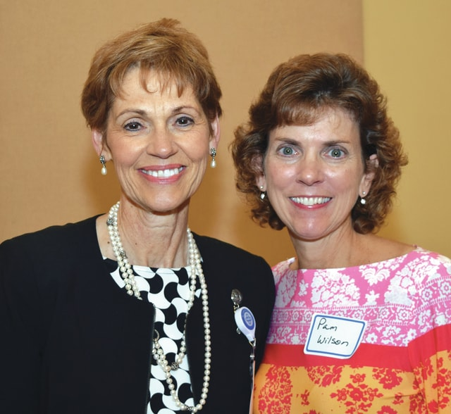 Provided photo Becky Rice, UVMC president and CEO, left, honored UVMC Employee of the Year Pam Wilson recently at the annual Employee Recognition Banquet.