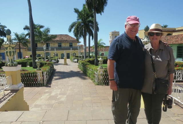 Provided photo Dan and Margaret French of Piqua pose for a photo during a recent trip to Cuba.