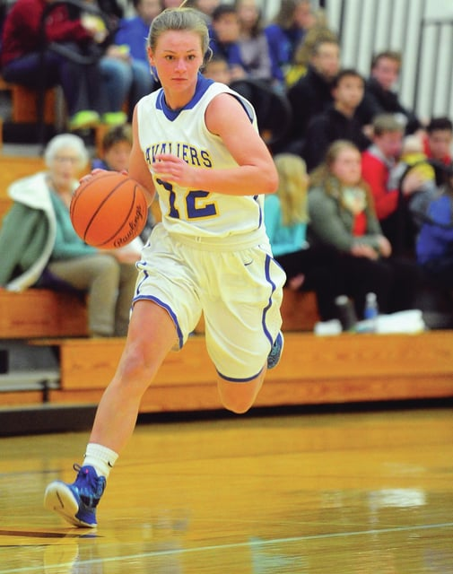 Mike Ullery | Daily Call Grace Monnin brings the ball down the floor for Lehman Tuesday night.