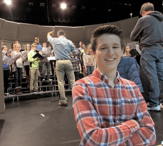 """Bryce Redick, a Miami East High School senior, will audition for a chance to appear on """"The Voice"""" next month."""