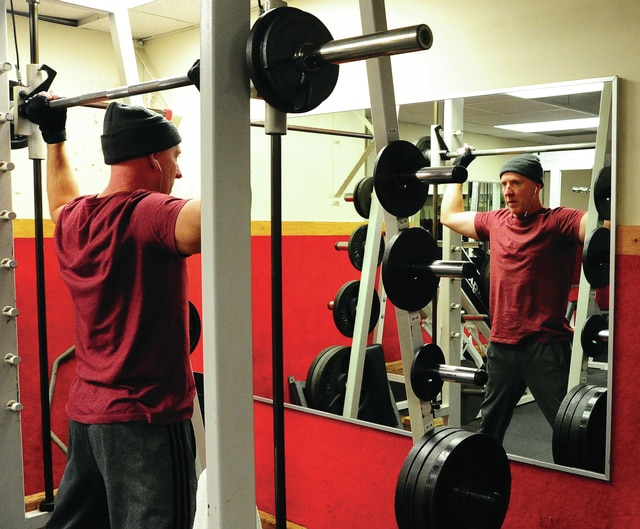Mike Ullery | Daily Call Chris Peltier of Piqua works out at the Piqua Branch of the Miami County YMCA on Saturday.