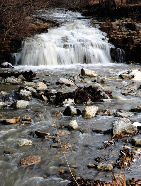 Mike Ullery | Daily Call The falls at the Miami County Park District's Farrington Reserve are running high and fast following a wet week across the area but luck was with us as we avoided the ice and freezing rain forecast for Saturday.