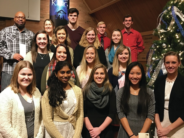 Provided photo Miami County Foundation scholarship winners include, first row. Alicia Westfall, Srividhya Madireddy, Kelly Moore, Juliya Hsiang and Marie Ewing; second row, Meaghan Baker, Danielle Hery and Lauren Setzkorn; third row, Elizabeth Huffman, Olivia Raypole, Kristin Jones and Allison Gaier; and fourth row, Brian Jordan-Jones, Jennifer Noren, Ryan Craft, Andrew Bricker and Luke Oaks.