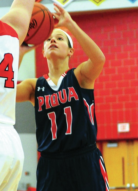 Mike Ullery | Daily Call Piqua senior Claire Went looks for a shot against Wayne Saturday at Troy.
