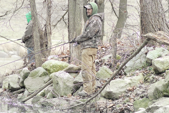 Anthony Weber | Troy Daily News Despite cooler temperatures and reports of potential snow and travel hazards in the area, Nick Brower and his brother, Joe, took time out of there day Wednesday to go fishing. Both spent time fishing around the area of the island at Treasure Island.