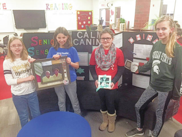 Provided photo Four students from Piqua Central Intermediate School recently advanced from the local Invention Convention to the state competition coming up in Columbus. Left to right are Kaylee Eleyet, Marin Funderburg, Jenna Snyder and Savannah Swanson.