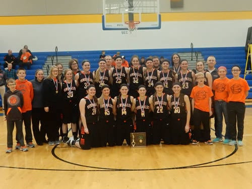 The Versailles girls basketball team beat Bethel-Tate to win an Ohio High School Athletic Association district championship.
