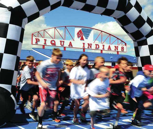 Mike Ullery | Daily Call The first <em>Otath He Waugh the Couch Educator Appreciation 5K Walk/Run</em> was held Sunday at Alexander Stadium. More than 250 participants took part in the 5K event.