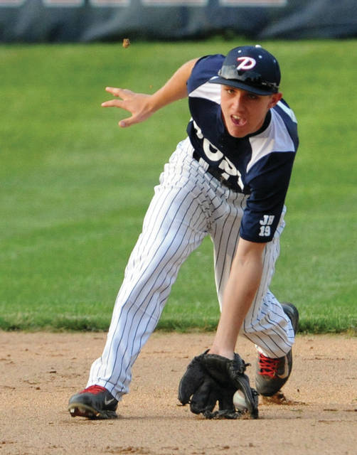 Call File Photo Howie Ludwig is back at second base for the Piqua Post 184 American Legion baseball team.