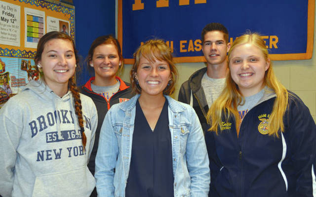 Provided photo The 2017 May members of the mMonth are, left to right, Carly Gump, Alyssa Westgerdes, Emma Linn, Weston Hodge, and Katie Bodenmiller.