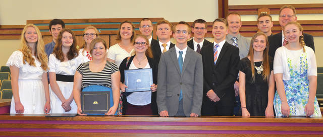 Provided photo Nineteen high school seniors from the Miami Valley graduated from the Seminary program of The Church of Jesus Christ of Latter-day Saints on May 21. Local graduates include Jakob Groover and Neil Reed, of the Piqua Ward.