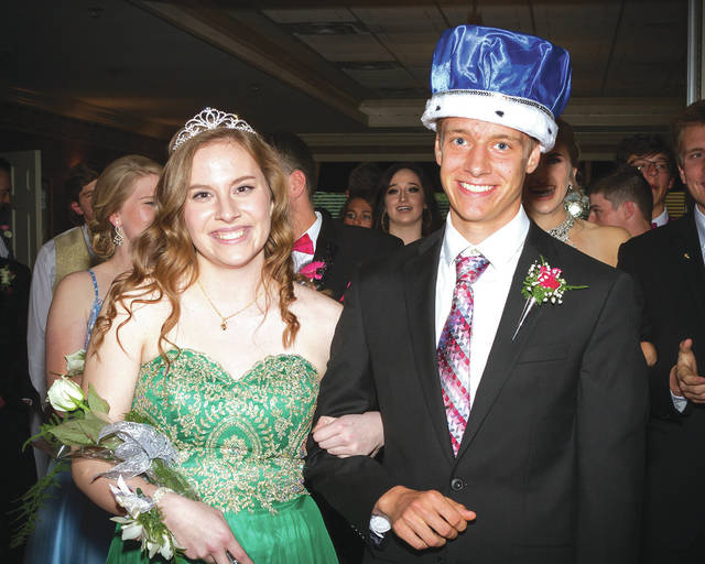 Courtesy of Mike Underwood Photography Lehman Catholic School held its prom on Saturday, May 6, crowning Elizabeth Pax as Queen and Isaiah Winhoven as King. Pax is the daughter of Dennis and Kris Pax of Piqua, and Winhoven is the son of Carrie Winhoven of Greenville and the late Joseph Winhoven.