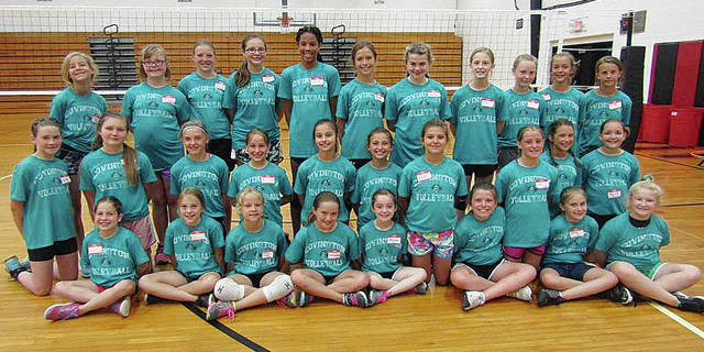 Photo Provided The Covington volleyball coaching staff recently held camps for grades 4-6 and grades 7-8. They would like to thank the following area businesses who provided coupons and gift cards for camp prizes: BK Rootbeer, Clarks Pizza, Covington Subway, Piqua McDonalds and Sweet Treats at AL's BP.