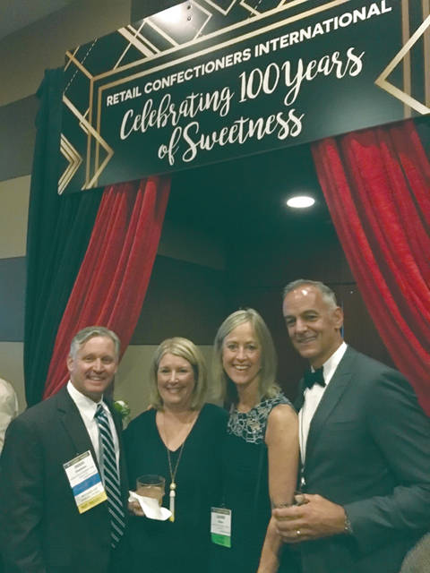 Provided photo Doug and Barb Dressman of Esther Price Candies of Dayton and Laurie and Joe Reiser of Winans Chocolates + Coffees of Piqua joined nearly 500 other Retail Confectioners International (RCI) members in Chicago from June 12-16 to celebrate the association's 100th anniversary.