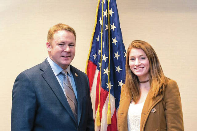 Provided photo Danielle N. Mannier from Miami East High School is one of 12 Ohio students appointed to U.S. Service Academies by Rep. Warren Davidson (R-Troy). She will attend the U.S. Merchant Marine Academy.