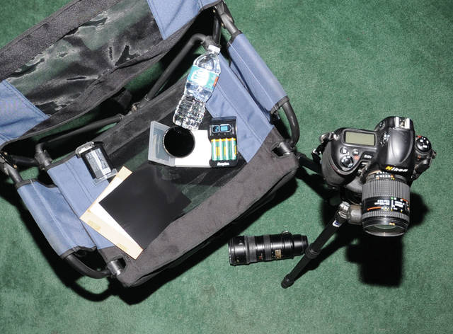 Mike Ullery | Daily Call A few of the essentials for solar eclipse photography comfort and safety.