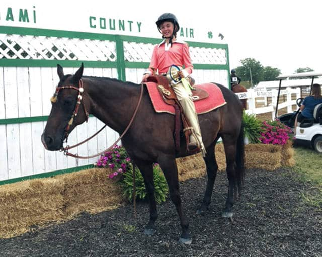 Provided photo Chloe Berry, 10, won first place Western Showmanship ages 9-11 at the 2017 Miami County Fair.