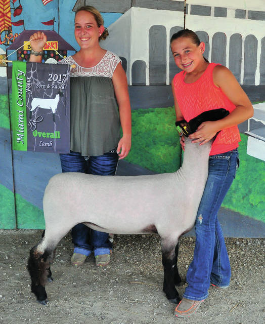 Keira Kirby, 12, of Piqua won 5th Overall Born & Raised Lamb. She is a member of the Ham & Lamb 4H Club.