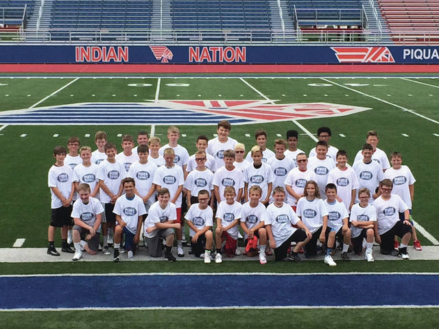 Contributed photo Participants in Piqua football 2017 Speed Camp at Alexander Stadium/Purk Field