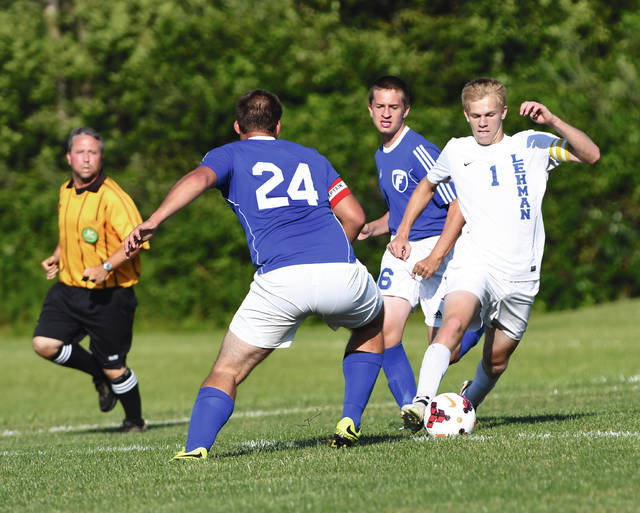 Chris McDonagh Photo Lehman Catholic's Jake Emrick set a school record with seven goals Tuesday.