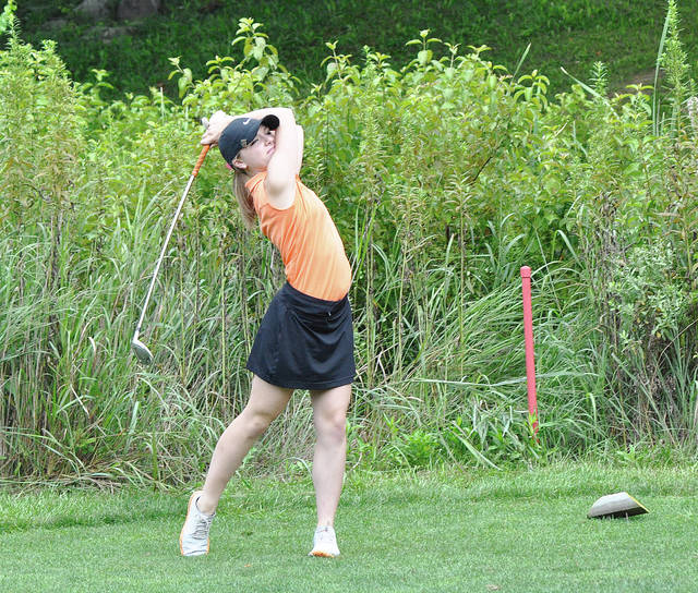 Rob Kiser/Call File Photo Versailles' Lauren Durham was medalist at the Celina Invitational Thursday.