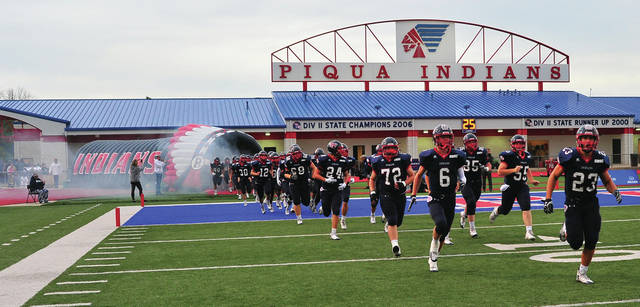 Mike Ullery | Daily Call The Piqua Indians take the field on their home turf for the first time this season on Friday.