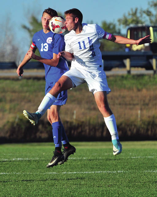 Mike Ullery | Daily Call Lehman's Michael Denning, 11, fights for the ball.