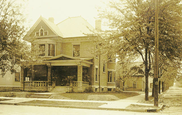 Provided photo The John Vallery House at 528 N. Downing St., Piqua, will be one of seven homes showcased during the historic home tour on Dec. 9. The home, established in 1898, is owned by Denise and Rick Klosterman.