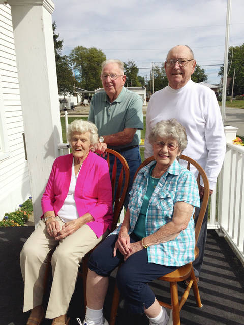 Mary and Kermit Littlejohn, left, and Richard and Lucie Furrow, will be honored as grand marshals at the Christiansburg Bicentennial parade on Saturday.
