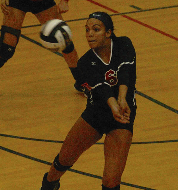 Amanda Ullery/For The Call Piqua's Tylah Yeomans passes the ball against Troy Wednesday at Garbry Gymnasium.