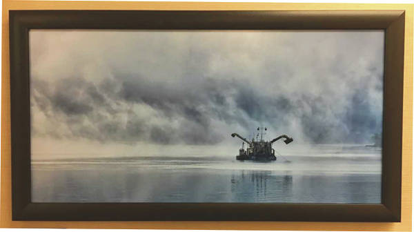 "Provided photo ""Foggy Morning on the River,"" a shot of the Danube River, is among the works of Piqua photographer Mike Underwood on display throughout this month at the Piqua Public Library."
