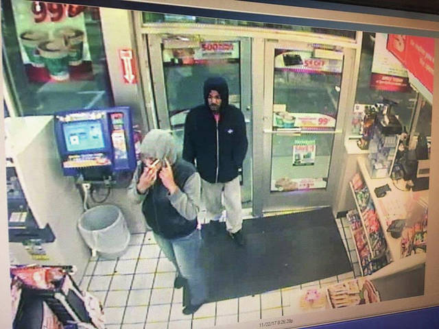 "Courtesy photo The Piqua Police Department circulated this surveillance photo from Speedway from the night of the armed robbery at Cassano's, saying on Facebook on Wednesday evening, ""We need to talk to these two about a robbery at Cassano's tonight. If you recognize them, please call the on-duty shift at 937-440-9911."" To remain anonymous, people can also visit <a href=""https://piquaoh.org/city-departments/police-department/submit-a-tip/"" target=""_blank"" title=""Submit a Tip"">bit.ly/PPDtips</a> to submit a tip."