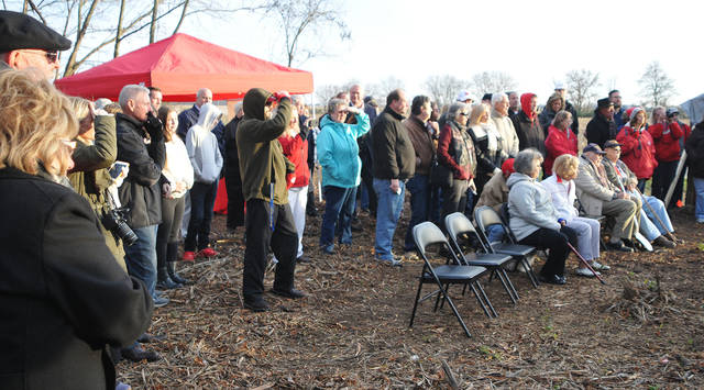 About a 100 spectators gathered to watch the groundbreaking ceremony of the county's new animal shelter on Friday.   Bryant Billing | Sidney Daily News