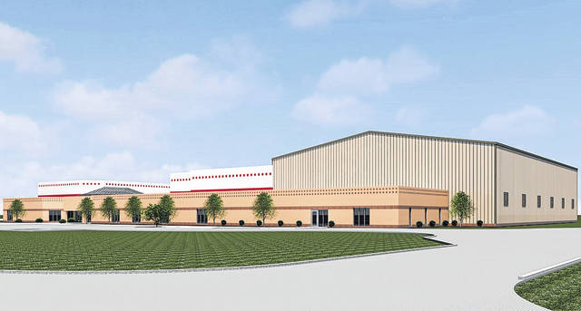 Artist's rendering An artist's rendering of the Robinson Branch of the Miami County YMCA following the addition of the new 22,000- square-foot field house.