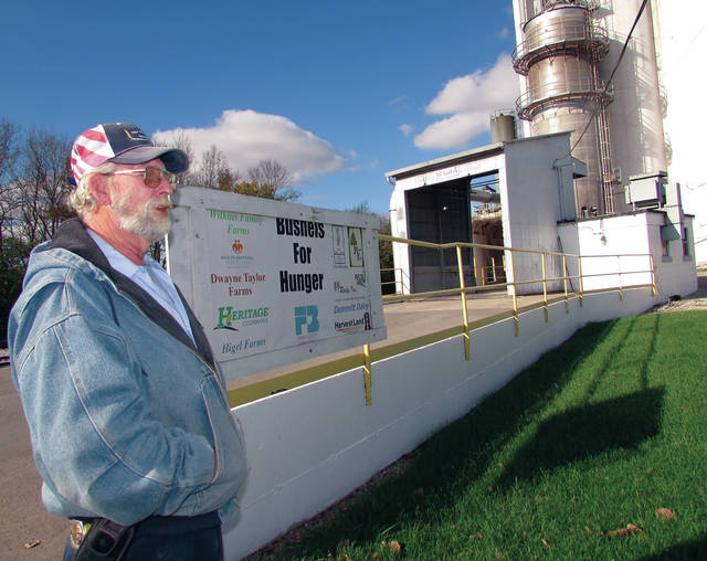 Operations manager Jim Routzahn has worked more than four decades of harvest at Troy Elevator.