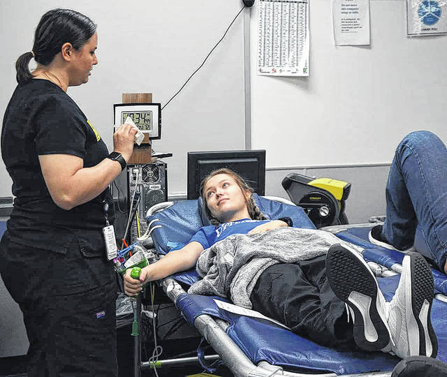 Provided photo Danielle Rose, a Covington High School Cosmetology senior, was one of 103 students who donated through the Upper Valley Career Center fall blood drive.