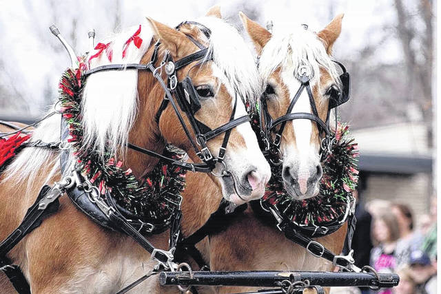 Provided photo The Holiday Horse Parade will be held in downtown Piqua on Saturday evening, Nov. 11, starting at 7 p.m.